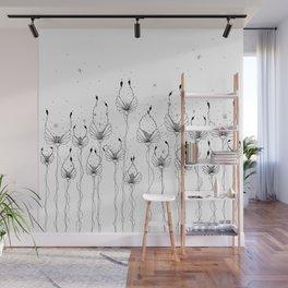 dew flower doodle ink art Wall Mural