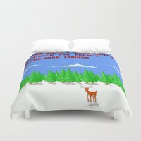 depression Duvet Covers featuring A Constant State of Depression by ThatLittleDemon