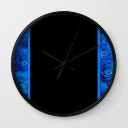Blue Flowers - Roses Wall Clock