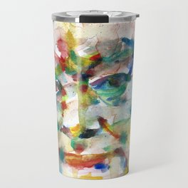 WINSTON CHURCHILL - watercolor portrait.4 Travel Mug