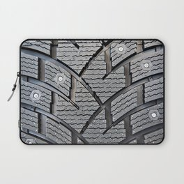 Background pattern winter stud tire Laptop Sleeve