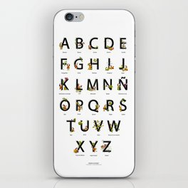 Spanish Alphabet iPhone Skin