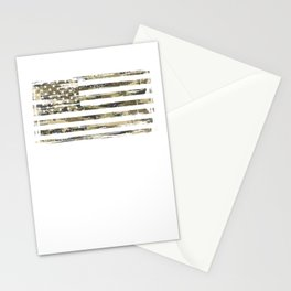 USA American Flag Camouflage Patriotic Veteran Stationery Cards