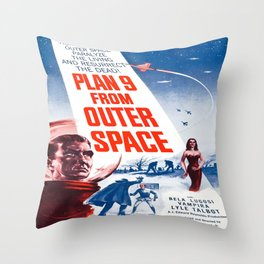 Vintage poster - Plan 9 from Outer Space Throw Pillow