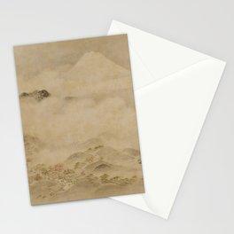 Japanese Edo Period Landscape Scroll of Mount Fuji - Kano Tanyu Stationery Cards
