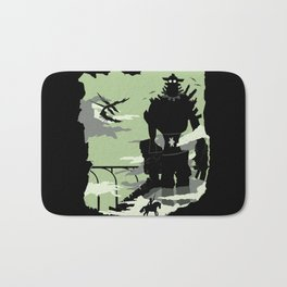 Silhouette of the Colossus Bath Mat