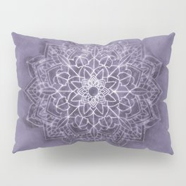 Vintage Lavender Watercolor Mandala Pillow Sham