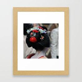 Geisha Maiko Photograph Framed Art Print