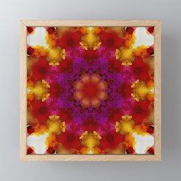 Orchid Mandala Framed Mini Art Print
