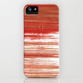 Medium carmine abstract watercolor iPhone Case
