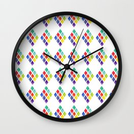 Painted Argyle Wall Clock