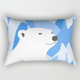 Polar Bear In The Cold Design Rectangular Pillow