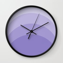 Four Shades of Lavender Curved Wall Clock