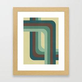 Abstract Retro Stripes Framed Art Print