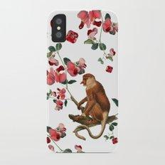 Monkey World: Nosy - White iPhone X Slim Case