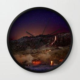 Kilauea Volcano Lava Flow. 6 Wall Clock