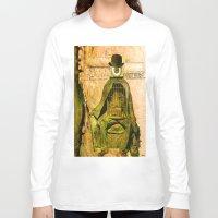 brussels Long Sleeve T-shirts featuring Monsieur Bone et la liberté by Ganech joe