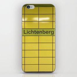 Berlin U-Bahn Memories - Lichtenberg iPhone Skin