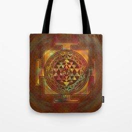 Colorful Sri Yantra  / Sri Chakra Tote Bag