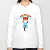 oz Long Sleeve T-shirts featuring Dorothy Wizard of Oz by Steph Dillon