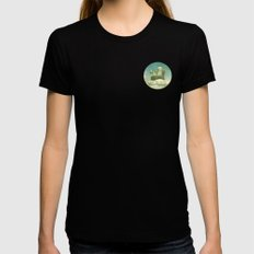 Never Stop Exploring Womens Fitted Tee SMALL Black