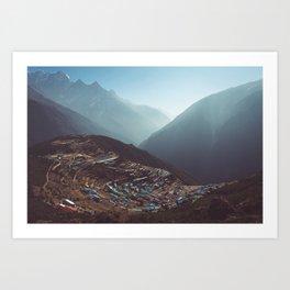 Namche, Nepal Art Print