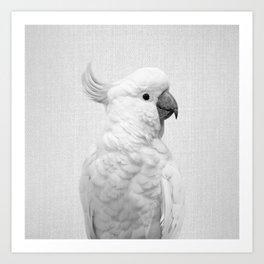 White Cockatoo - Black & White Art Print