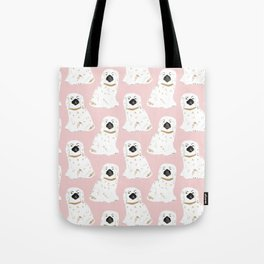 Staffordshire Dog Figurines No. 1 in Blush Pink Tote Bag