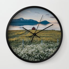 Nordic Summer - Landscape and Nature Photography Wall Clock