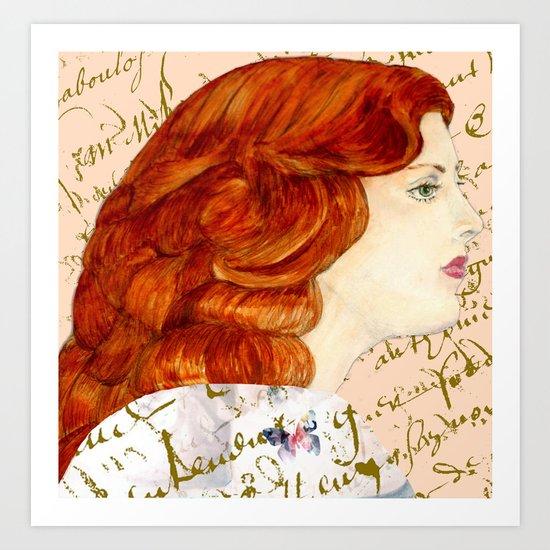 I love Redheads Art Print
