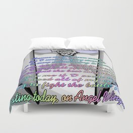 Resting Today On Angel Wings Duvet Cover