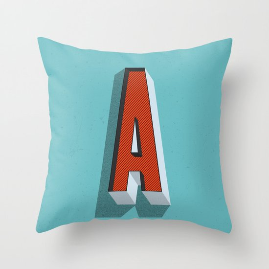 Letter A Throw Pillow by INDUR Society6