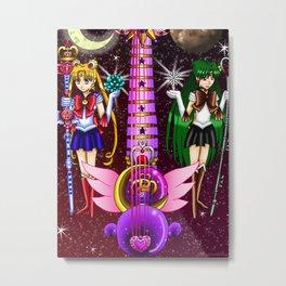 Fusion Sailor Moon Guitar #9 - Sailor Moon & Sailor Pluto Metal Print