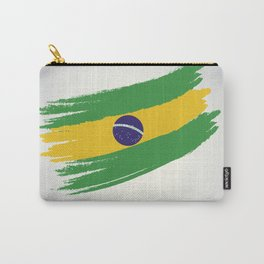 Abstract Brazil Flag Design Carry-All Pouch