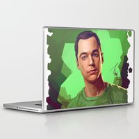 bazinga Laptop & iPad Skins featuring Dr. Cooper No. 2. by Thubakabra