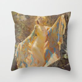 Maiden Of The Mist Throw Pillow