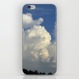 Billowing White Clouds Brilliant Blue Sky iPhone Skin