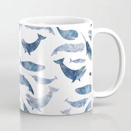 Whales, whale art, whale painting, whale wall art, watercolour whales, ocean Coffee Mug