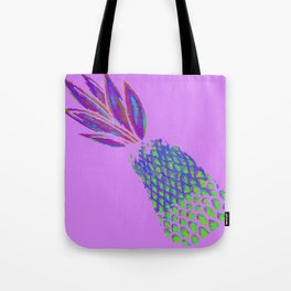 Neon Pineapple Punch on textured pink Tote Bag