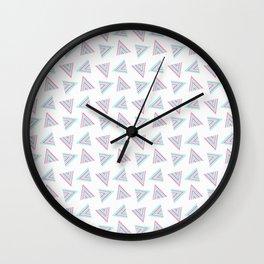 Pink Cyan Pattern Wall Clock