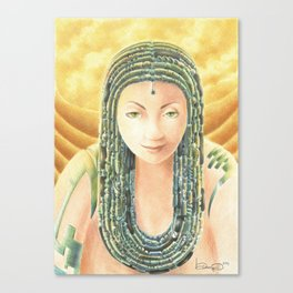 Portrait in the Desert Canvas Print