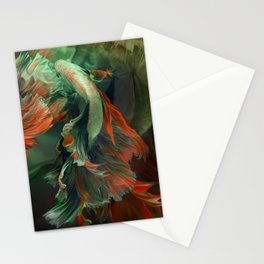"""Betta splendens Deep water (Siam fighter)"" Stationery Cards"
