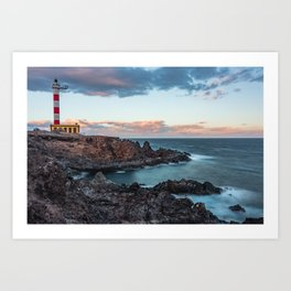Arico Lighthouse with Long Exposure. Art Print