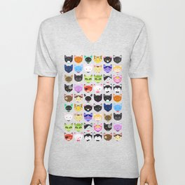 Love character cats Unisex V-Neck