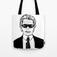 karl lagerfeld Tote Bags featuring Uncle Karl Lagerfeld by Thompson ET Julienne