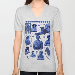 My Delft-Blue Tattoo Unisex V-Neck