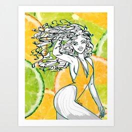 Afrolatina lemonade Art Print