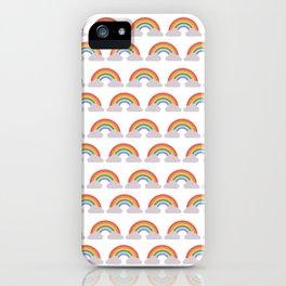 Paper rainbow iPhone Case