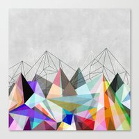 geometric Canvas Prints featuring Colorflash 3 by Mareike Böhmer