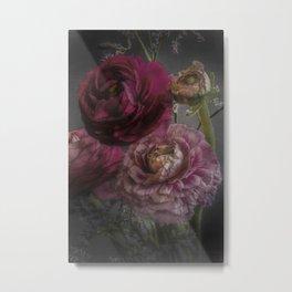 Ranunculus and Romance Metal Print
